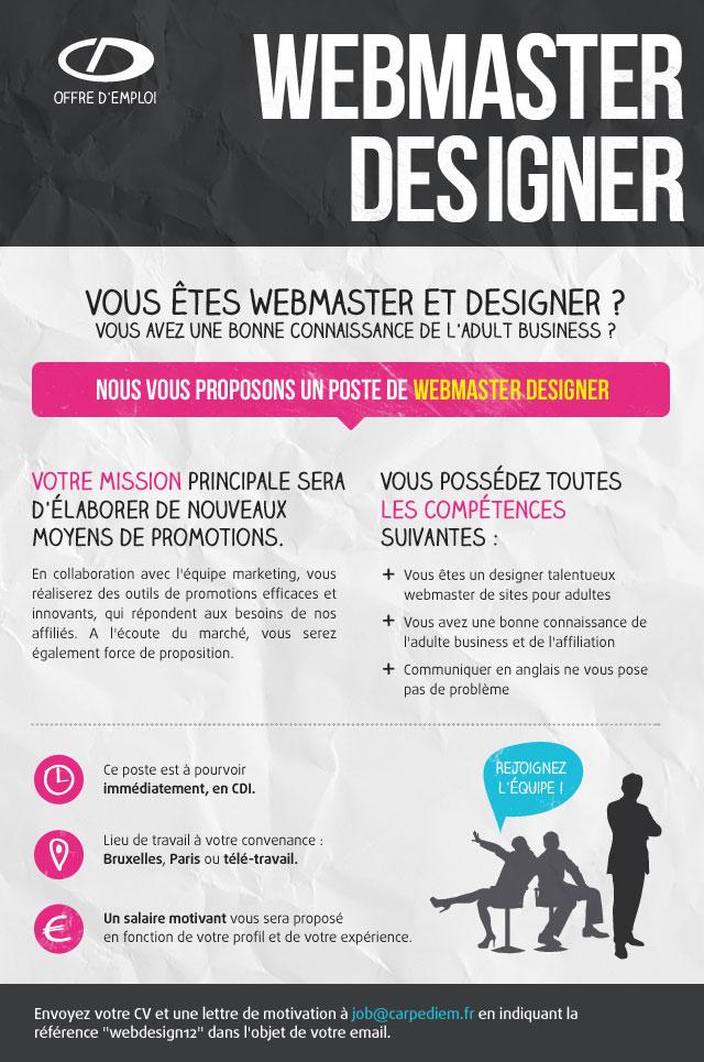 Job webmaster designer